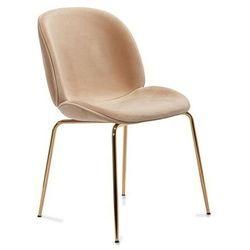 Krzesło Boliwia beżowe siedzisko / złote nogi komplet