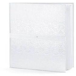 Księga gości weselnych biała z perłowym wzorem - 22 kartki