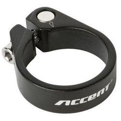 Obejma podsiodłowa Accent ze śrubą imbusową Light 34.9mm, czarna piaskowana