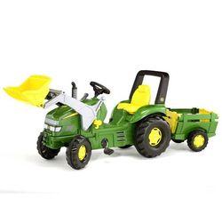 Traktor na pedały rollyX-Trac John Deere z łyżką i przyczepką Rolly Toys 3-10 Lat