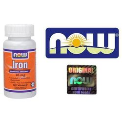 Now Foods Chela Iron 18mg Żelazo 120 kaps.