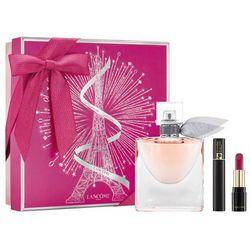 Lancome La Vie Est Belle, Zestaw podarunkowy, woda perfumowana 50ml + tusz do rzęs Mascara Hypnose 2ml + szminka L'Absolu Rouge Matte 378