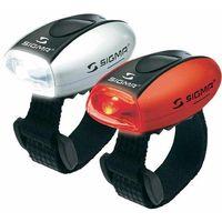 Oświetlenie rowerowe, Sigma SIGMA Zestaw lamp rowerowych MICRO