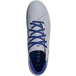 Buty piłkarskie adidas Nemeziz 19.4 FxG biało-niebieskie EF1707