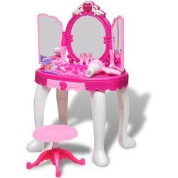 vidaXL Toaletka dziecięca z 3 lustrami oraz światłem i dźwiękiem Darmowa wysyłka i zwroty
