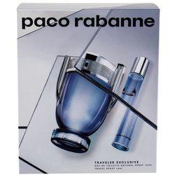 Paco Rabanne Invictus zestaw 100 ml Edt 100 ml + Edt 20 ml dla mężczyzn
