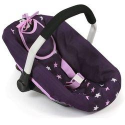 Bayer Chic fotelik samochodowy dla lalki, fioletowe gwiazdy