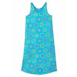 Letnia sukienka dziewczęca z dżerseju z bawełny organicznej bonprix niebieski karaibski