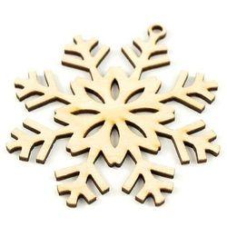 Płatek śniegu - drewniana zawieszka 9,5x8,5 cm Promocja Eko Deco -01 (-15%)