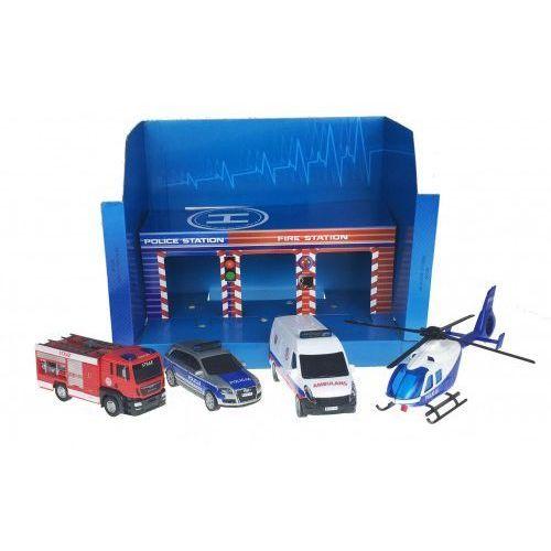 Garaże dla dzieci, SOS - Zestaw pojazdów w garażu