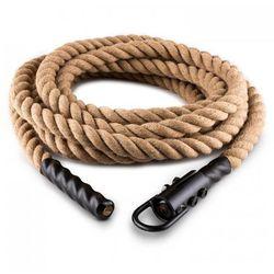 Power Rope H6 Lina z hakiem 6 m 3,8 cm Lina konopna Lina do ćwiczeń siłowych