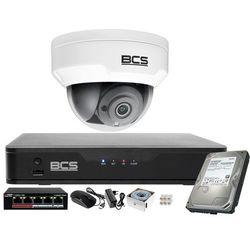 Monitoring obraz i dźwięk firmy sklepu domu H.265 BCS Point 1x Kamera BCS-P-212RWSA + Akcesoria