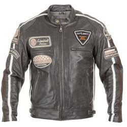 Męska skórzana kurtka motocyklowa W-TEC Buffalo Cracker, Brązowo-szary, 5XL