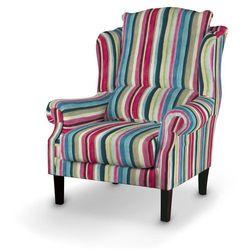 Dekoria Fotel, kolorowe pasy z przewagą turkusu i różu, 85x107cm, Monet