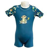 Stroje kąpielowe dla dzieci, Strój kąpielowy kombinezon dzieci 84cm filtr UV50+ - Petrol Jungle \ 084cm