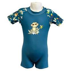 Strój kąpielowy kombinezon dzieci 84cm filtr UV50+ - Petrol Jungle \ 84cm