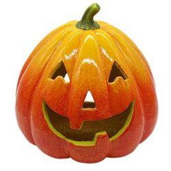 Lampion ceramiczny Dynia na Halloween - 31 cm - 1 szt.