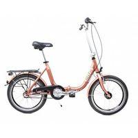 Pozostałe rowery, Aluminiowy rower składany SKŁADAK niska rama MIFA 3-biegi SHIMANO NEXUS prądnica miedziany