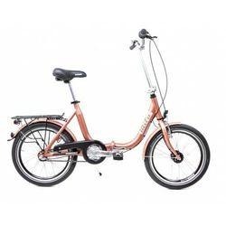 Aluminiowy rower składany SKŁADAK niska rama MIFA 3-biegi SHIMANO NEXUS prądnica miedziany
