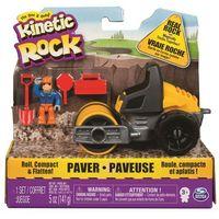 Piasek kinetyczny, Kinetic Sand opakowanie Kinetic Rock 141 g, z walcem, figurką budowniczego i dodatkami - BEZPŁATNY ODBIÓR: WROCŁAW!