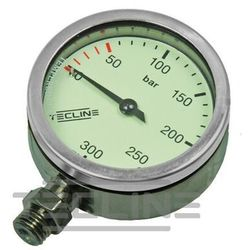 Manometr TecLine 300 bar 52 mm, chrom - głowica