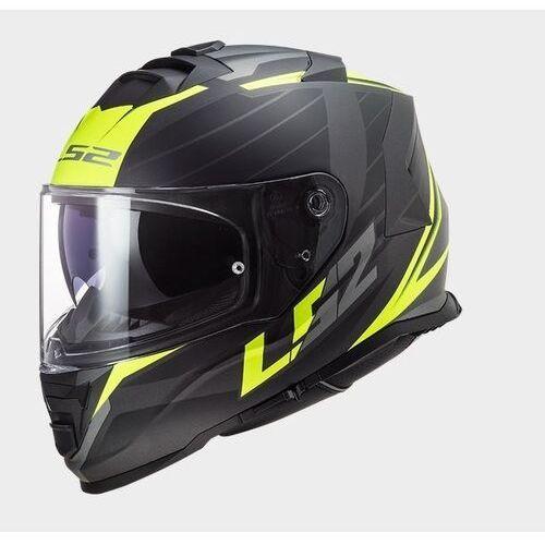 Kaski motocyklowe, KASK LS2 FF800 STORM NERVE MATBLACK H-V YEL