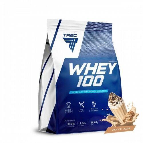 Odżywki białkowe, TREC Whey 100 - 900g - Cookie