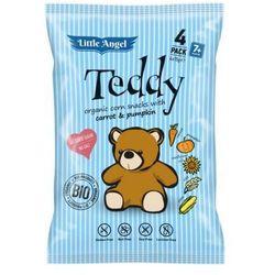 Chrupki kukurydziane TEDDY marchew i dynia od 7 miesiąca bezglutenowe BIO 4x15 g Little Angel