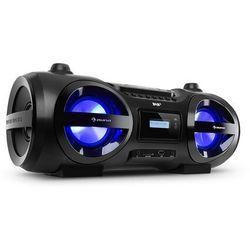 Auna Soundblaster DAB, boombox, Bluetooth, CD/MP3/USB/AUX, DAB+/UKF, LED, 50 W maks.