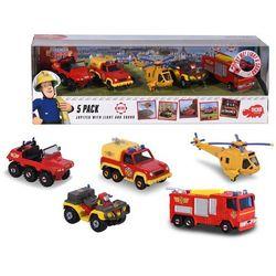 Dickie Toys Strażak Sam Zestaw 5 metalowych pojazdów