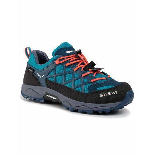 Buty sportowe dla dzieci, Salewa Trekkingi Jr Wildfire Wp 64009-8641 Niebieski