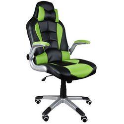 Fotel biurowy GIOSEDIO czarno-zielony, model BST047
