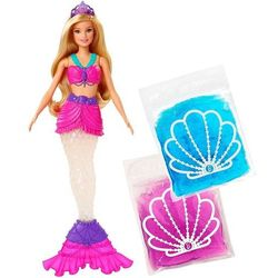 Mattel Barbie Morska syrena i błyszczący slime