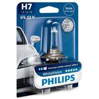 Żarówki halogenowe samochodowe, PHILIPS H7 WhiteVision 12V 55W PX26d - BEZPŁATNY ODBIÓR: WROCŁAW!