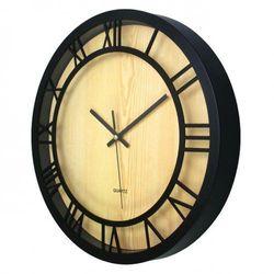 Zegar ścienny roman czarny