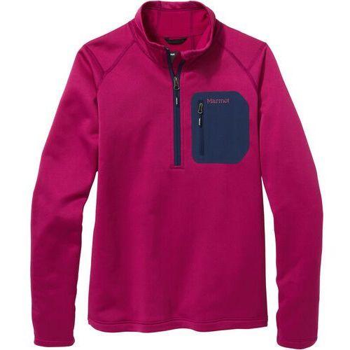 Bluzy damskie, Marmot Olden Polartec Bluza z zamkiem błyskawicznym 1/2 Kobiety, wild rose/arctic navy L 2020 Bluzy polarowe