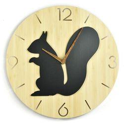 Zegar ścienny - Wild I - Squirrel