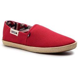 Espadryle TOMMY JEANS - Summer Shoe EM0EM00279 Tango Red 611
