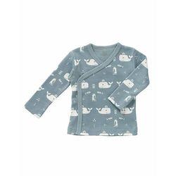 Fresk Kardigan bawełniany 0-3 miesięcy Wieloryb Blue fog