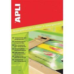 Folia do rzutników APLI A4 do drukarki laserowej 100 ark.