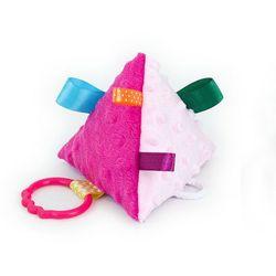 MAMO-TATO Piramidka sensoryczna dla niemowląt Różowa