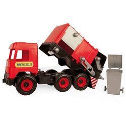 Śmieciarka czerwona Middle Truck w kartonie