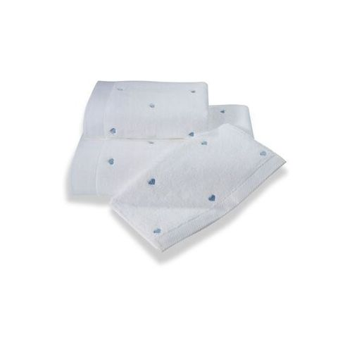 Pozostałe pościele i nakrycia, Zestaw podarunkowy małych ręczników MICRO LOVE, 3 szt Biały / liliowe serduszka