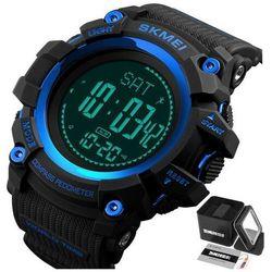 Zegarek męski skmei 1356 kompas krokomierz blue - blue