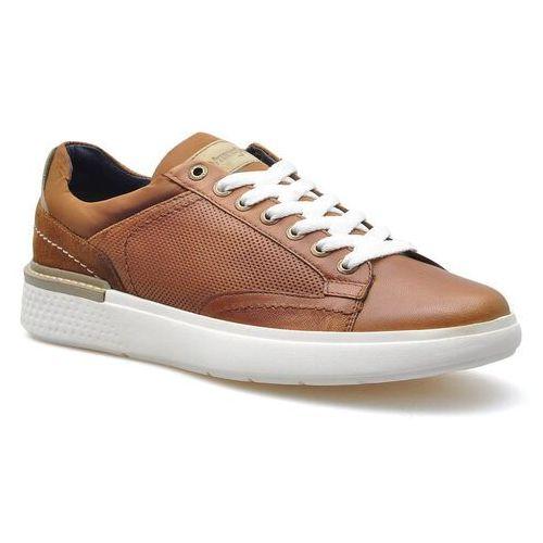 Półbuty męskie, Sneakersy Wrangler WM01181A Koniak