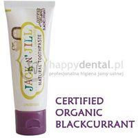 Pasty do zębów dla dzieci, JACK-N-JILL organiczna CZARNA PORZECZKA + Xylitol 50g - naturalna pasta do zębów dla dzieci z dużą zawartością Xylitolu
