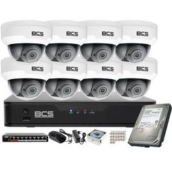 Monitoring wideo audio kasy stacji paliw sklepu BCS Point Rejestrator 16kan. IP + 8x Kamera BCS-P-212RWSA + Akcesoria