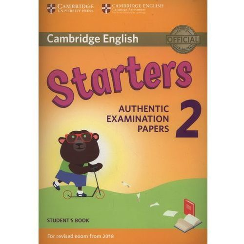 Książki do nauki języka, Cambridge English Starters 2 Student's Book (opr. miękka)