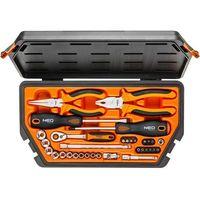 Zestawy narzędzi ręcznych, Zestaw narzędzi NEO 08-631 (33 elementy) + Zamów z DOSTAWĄ JUTRO! + DARMOWY TRANSPORT!