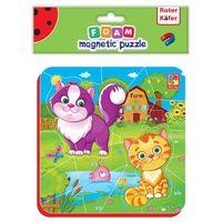 Puzzle, Miękkie magnetyczne puzzle Kotki na wsi